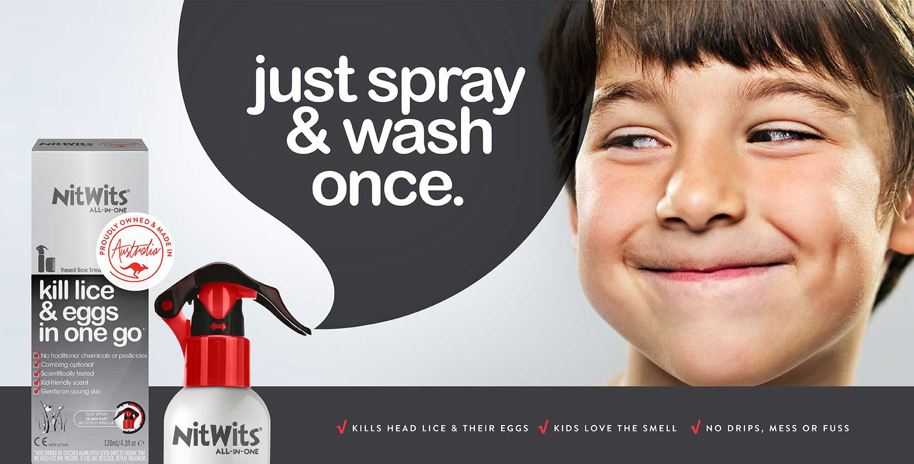 NitWits All In One Head Lice Solution | Kills Lice and Eggs In One Go