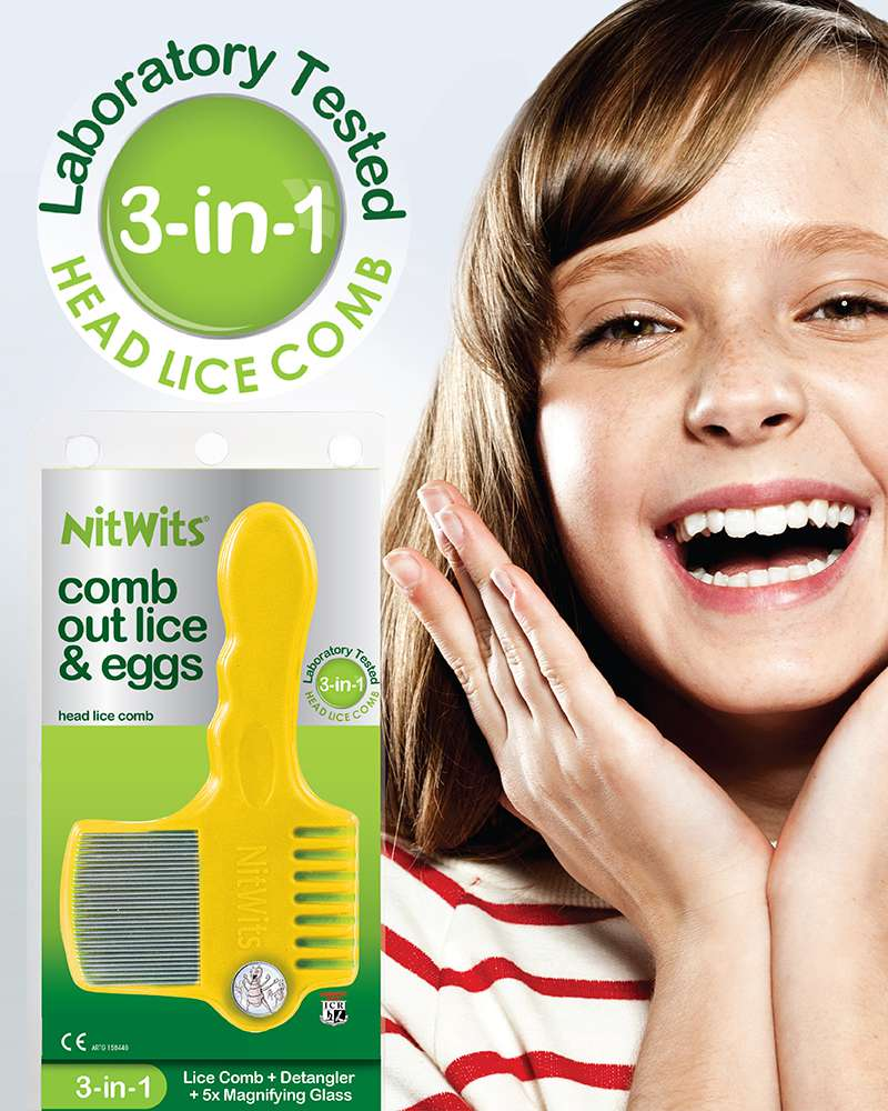 NitWits 3-in-1 Comb | Comb out head Lice and Eggs