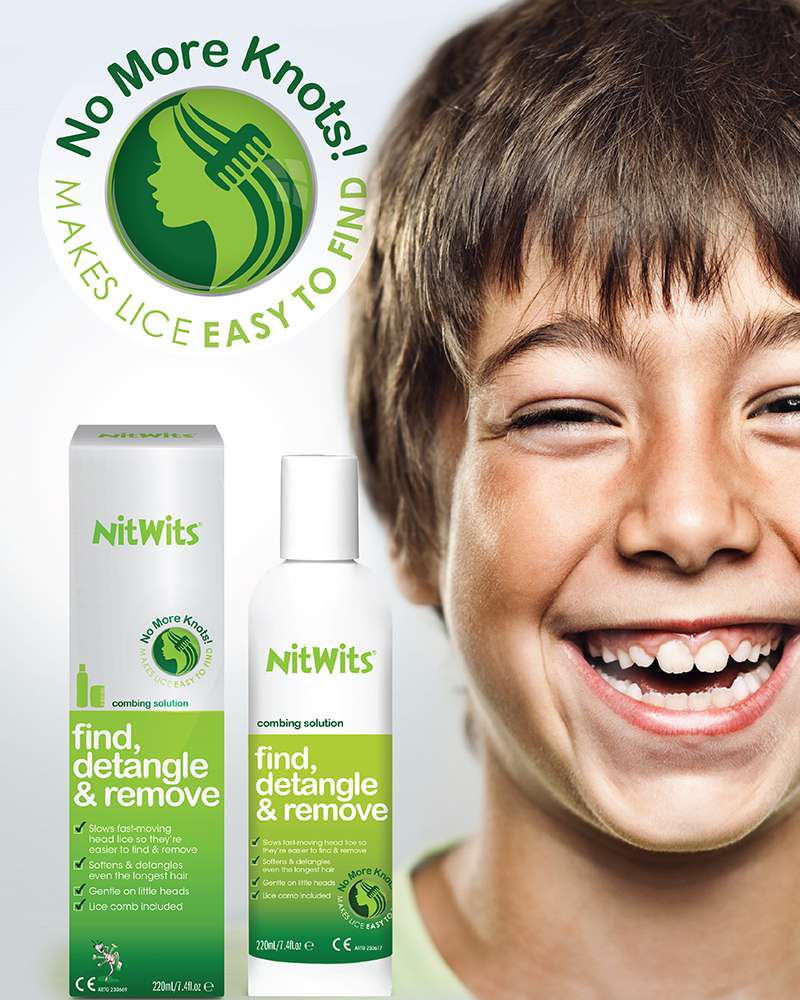 NitWits Combing Solution | Find head Lice and Comb with Ease