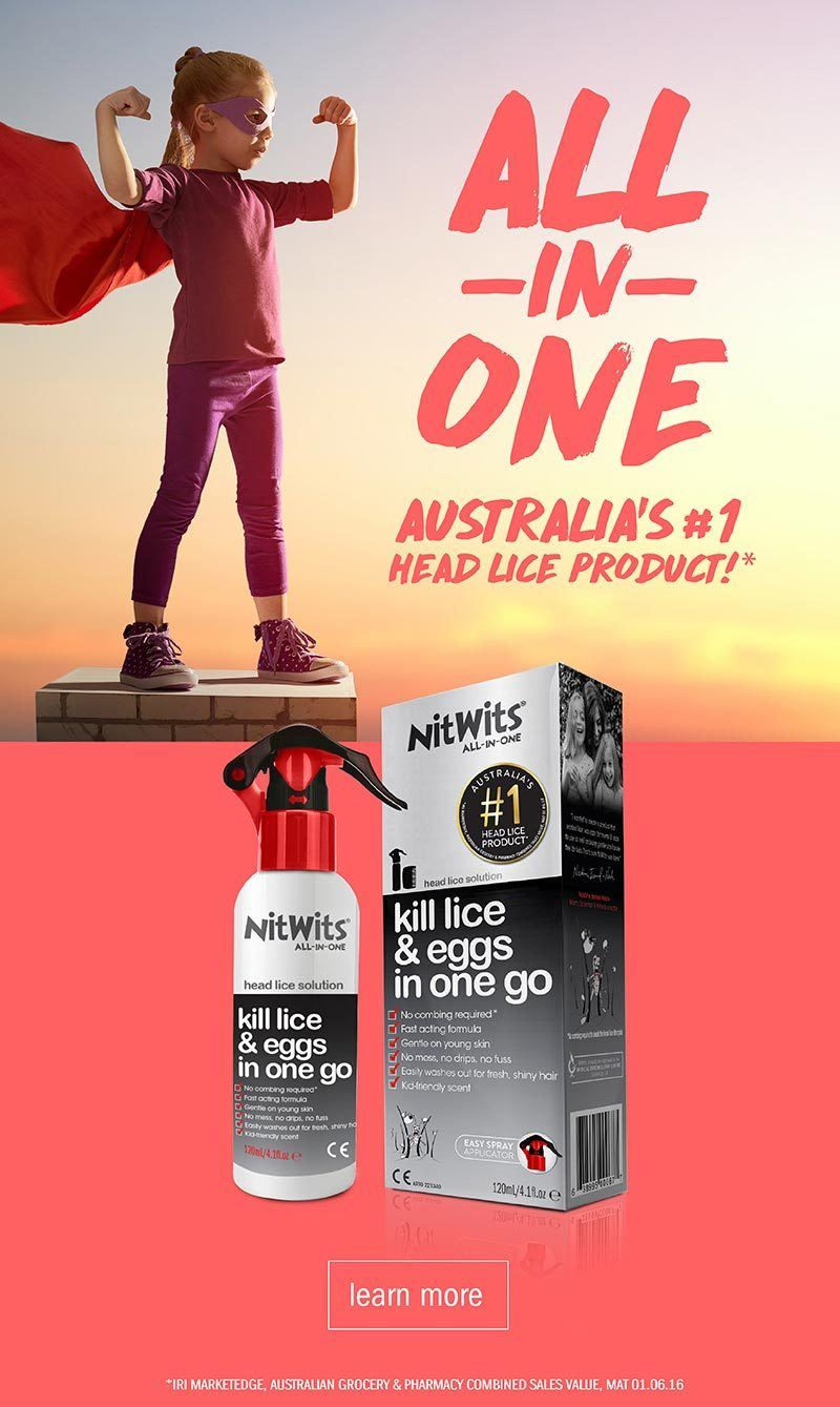 NitWits All In One Head Lice Solution | Australia's No 1 Head Lice Treatment Product