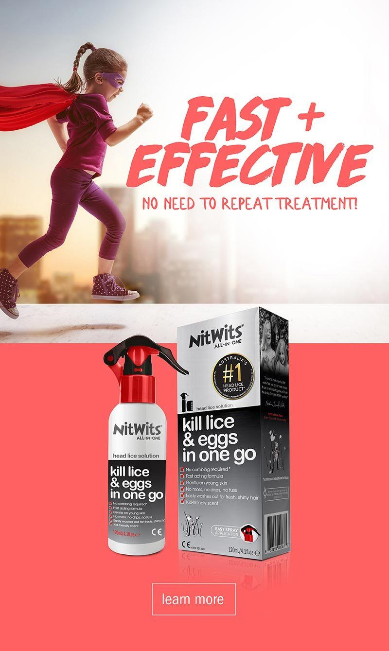 NitWits Head Lice All In One Solution | Head Lice Treatment Fast and Effective with No Repeat Treatment