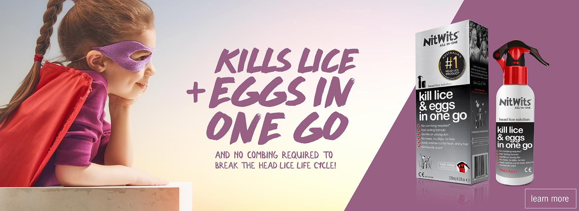 NitWits Head Lice All In One Solution | Kills Eggs and Lice in One Go