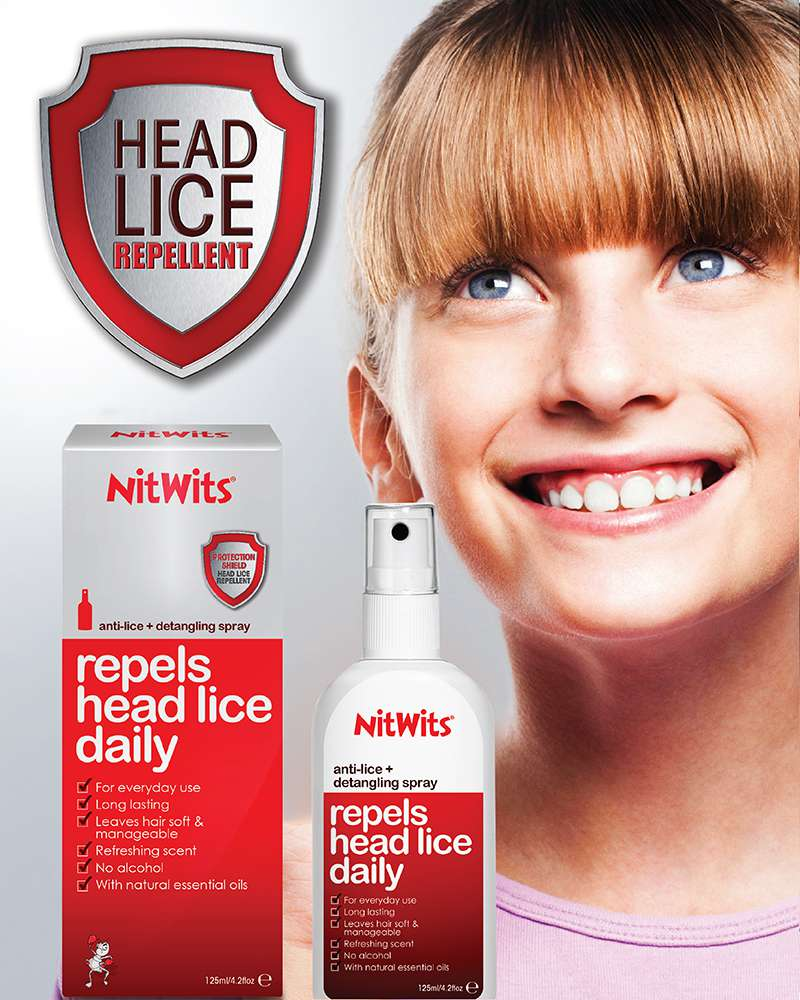 NitWits Anti-Lice Repels Head Lice | Repellent and Detangler in One