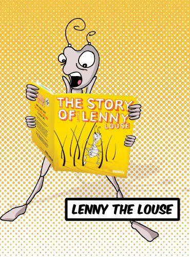 Lenny the Louse shocked reading The Story of Lenny Louse story book