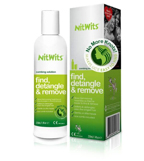 NitWits Head Lice Combing Solution