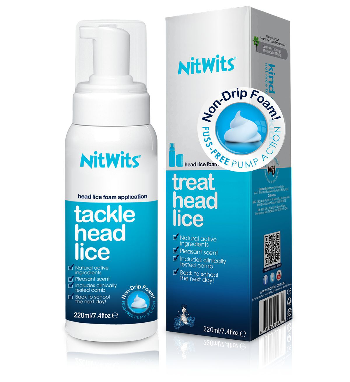 NitWits Natural Head Lice Foam